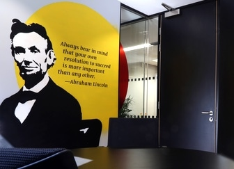 Cool modern office artwork - contemporary interior architecture